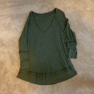 Free People V neck Thermal